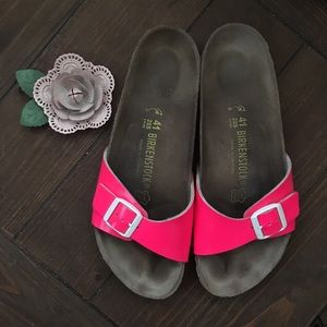 Birkenstock 41 L10 Narrow Pink Madrid One-Strap